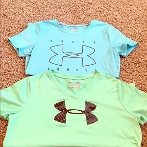 TWO GIRLS UNDER ARMOR TEES!
